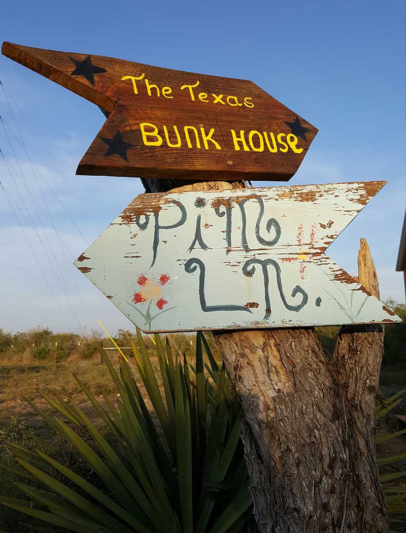 Texas Bunk House Cabin Sign Picaranch Texas